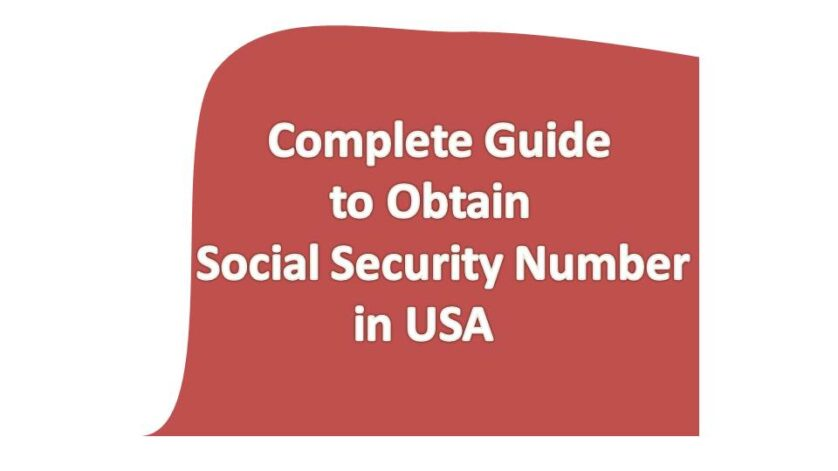 How to get Social Security Number in USA