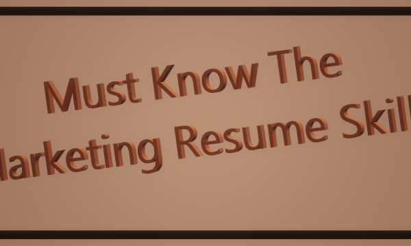 Resume Marketing Skills