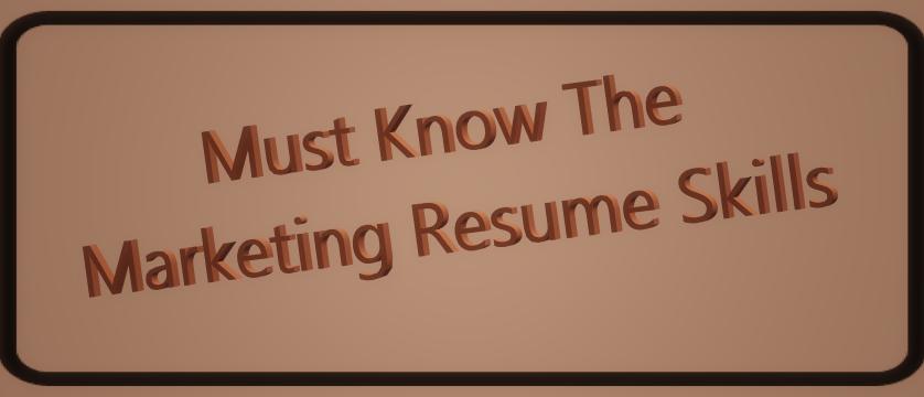 Resume Marketing Skills